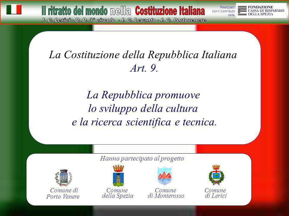 La Costituzione della Repubblica Italiana Art. 9.