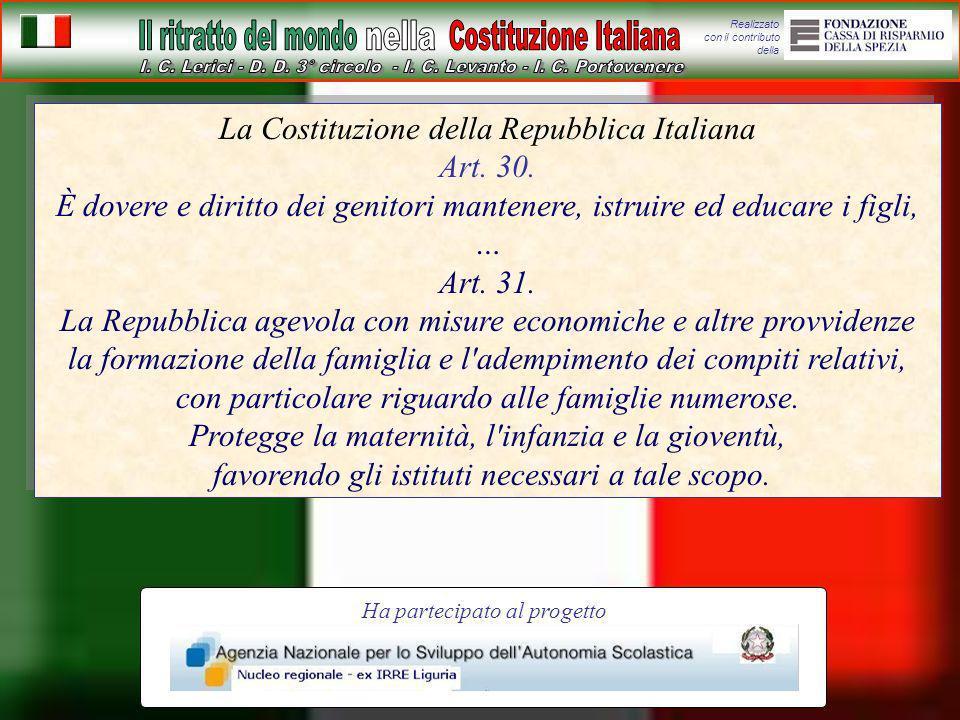 La Costituzione della Repubblica Italiana Art. 30.