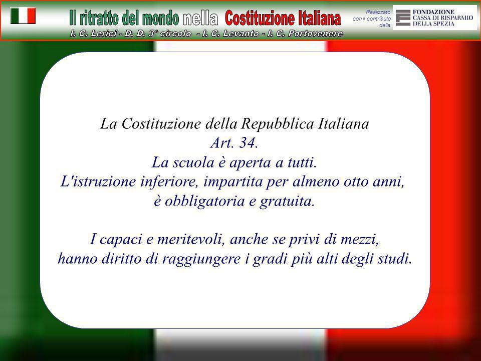 La Costituzione della Repubblica Italiana Art. 34.