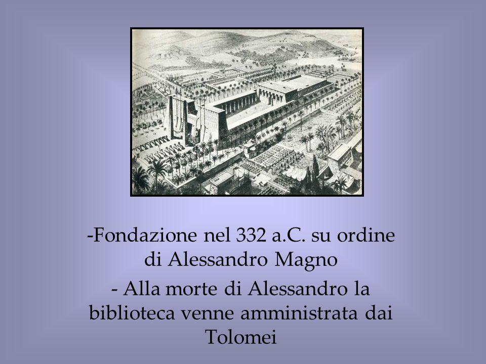 Fondazione nel 332 a.C. su ordine di Alessandro Magno