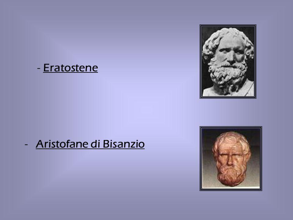 - Eratostene Aristofane di Bisanzio