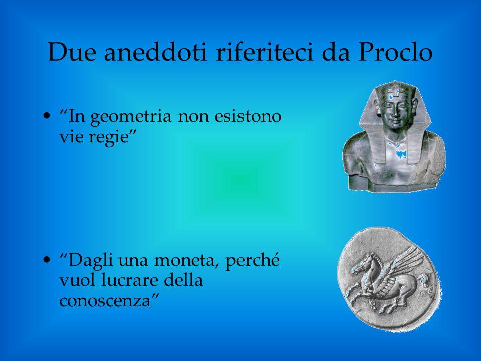 Due aneddoti riferiteci da Proclo