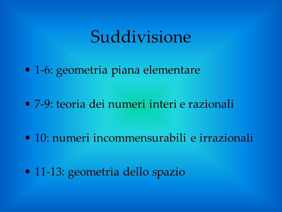 Suddivisione 1-6: geometria piana elementare