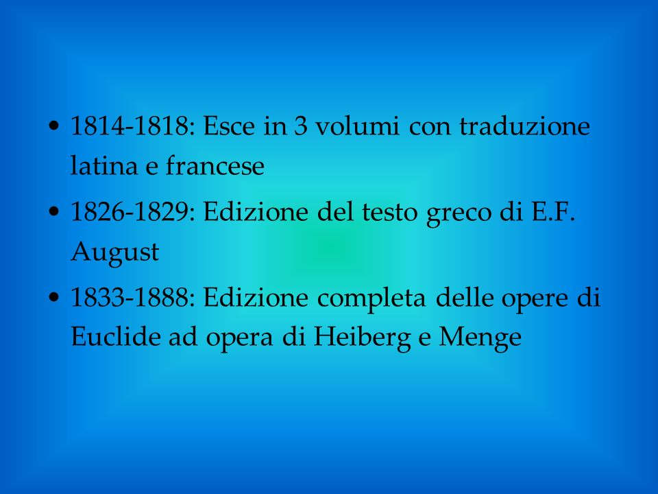 1814-1818: Esce in 3 volumi con traduzione latina e francese