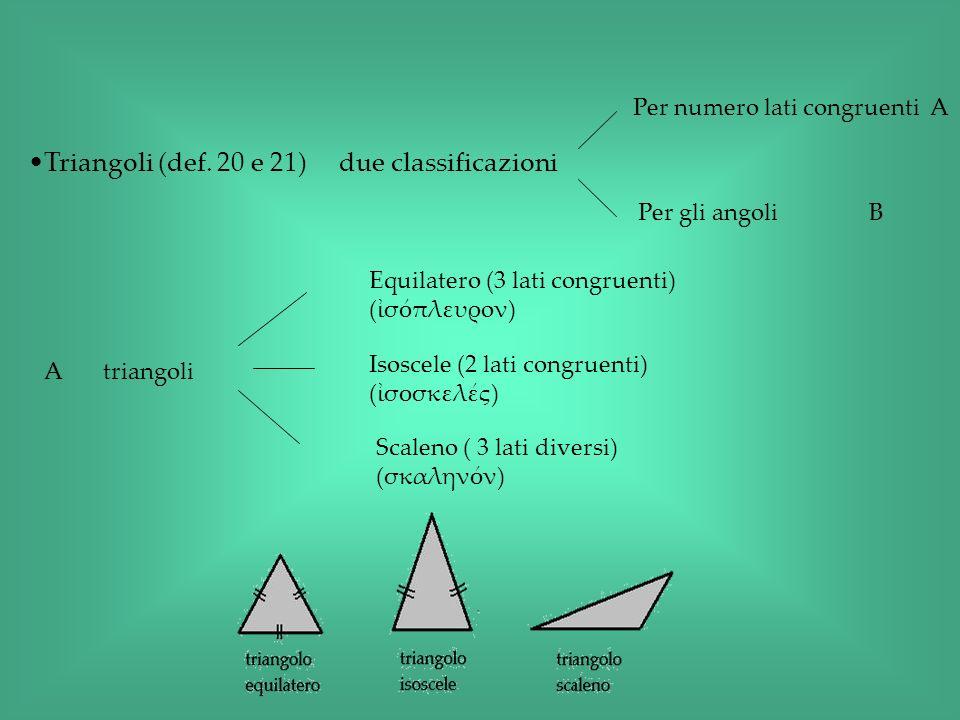 Triangoli (def. 20 e 21) due classificazioni
