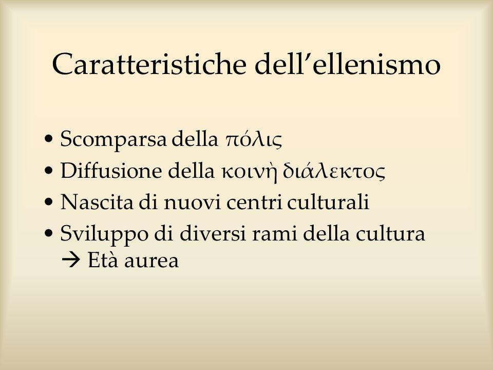 Caratteristiche dell'ellenismo