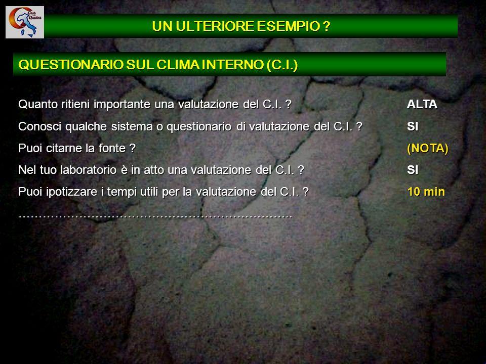 QUESTIONARIO SUL CLIMA INTERNO (C.I.)