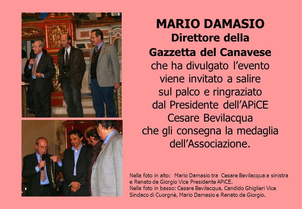 MARIO DAMASIO Direttore della Gazzetta del Canavese