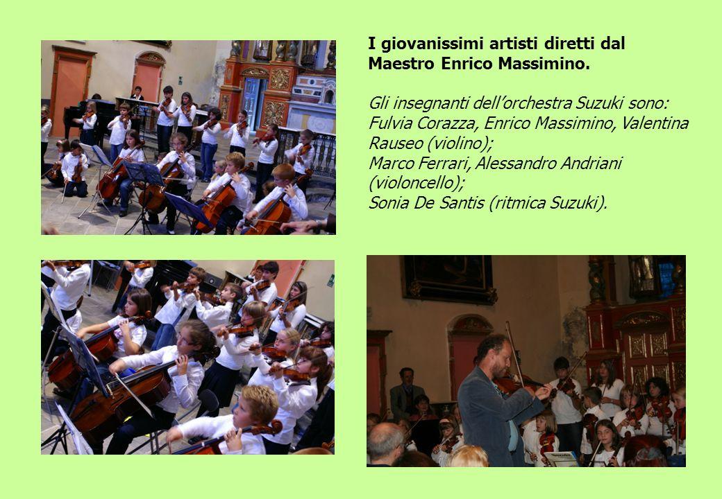 I giovanissimi artisti diretti dal Maestro Enrico Massimino.