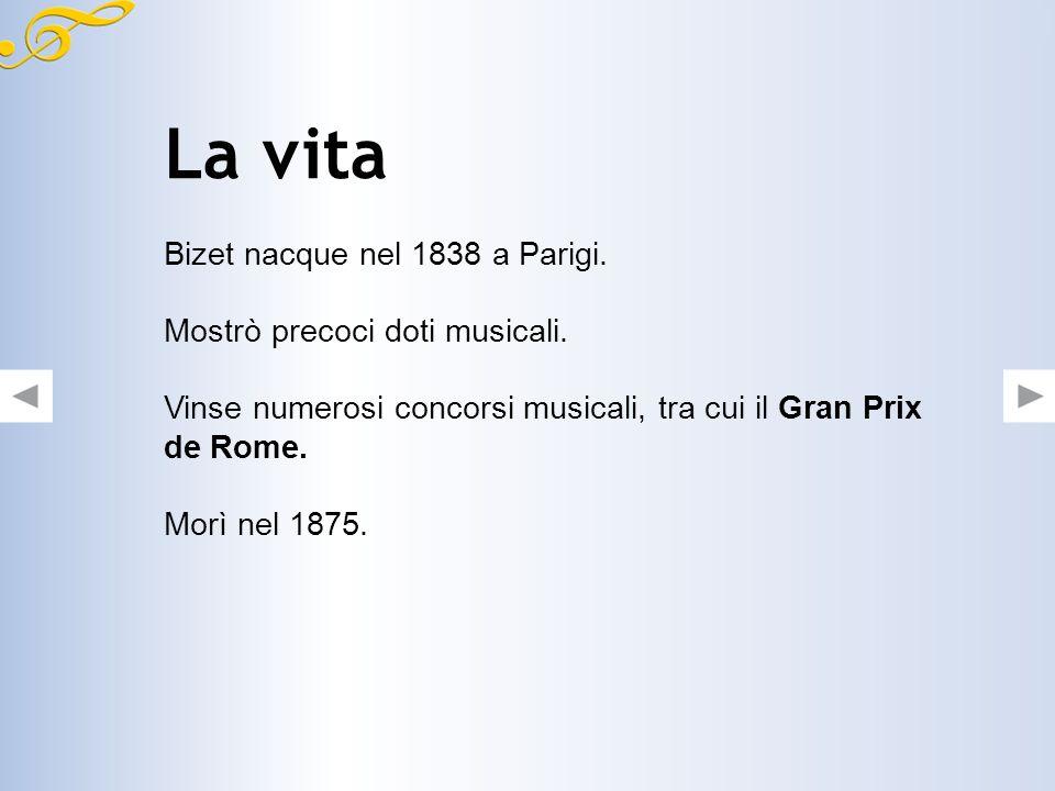 La vita Bizet nacque nel 1838 a Parigi. Mostrò precoci doti musicali.