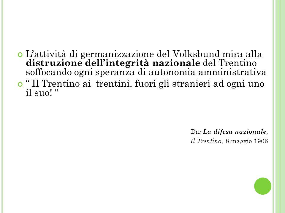 Il Trentino ai trentini, fuori gli stranieri ad ogni uno il suo!