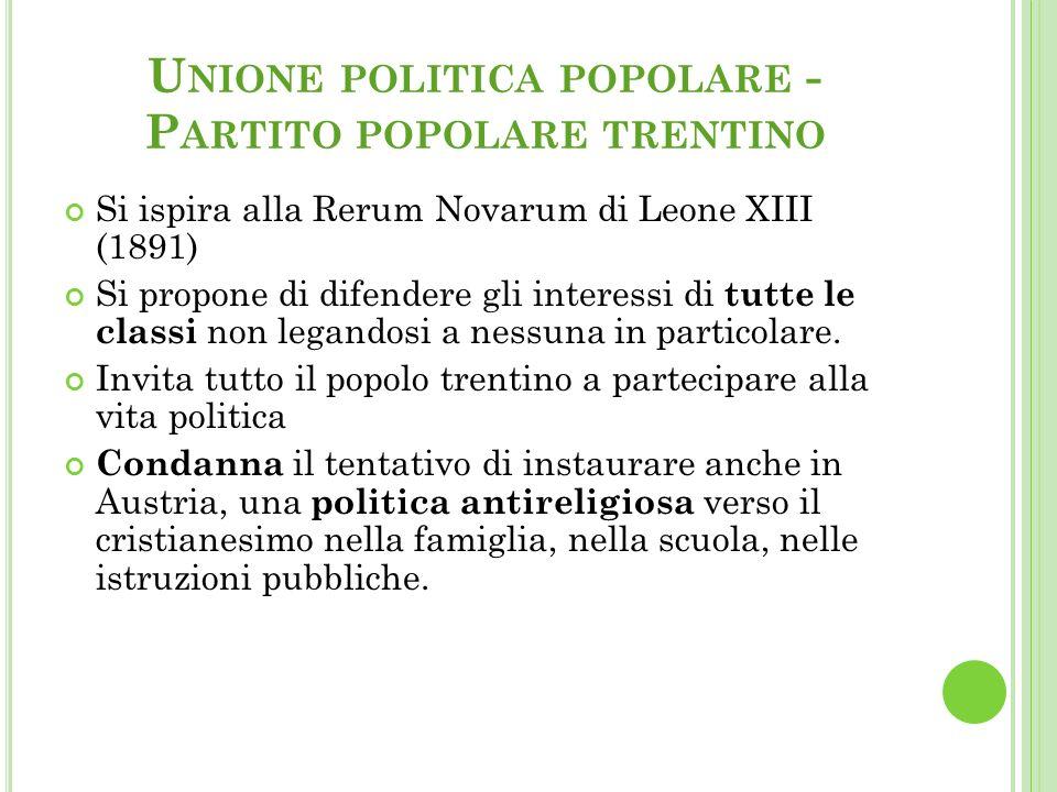 Unione politica popolare - Partito popolare trentino