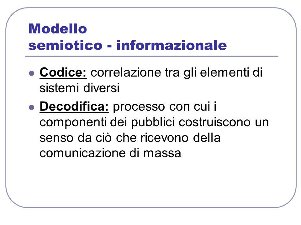 Modello semiotico - informazionale