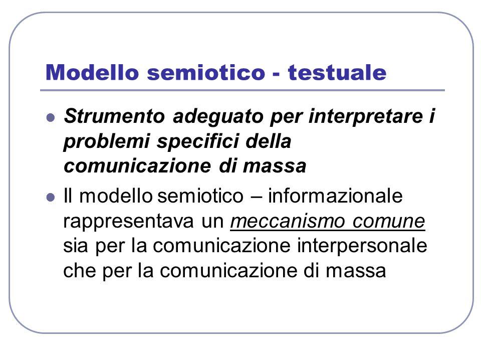 Modello semiotico - testuale