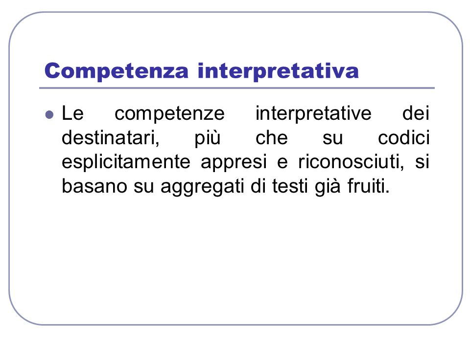 Competenza interpretativa