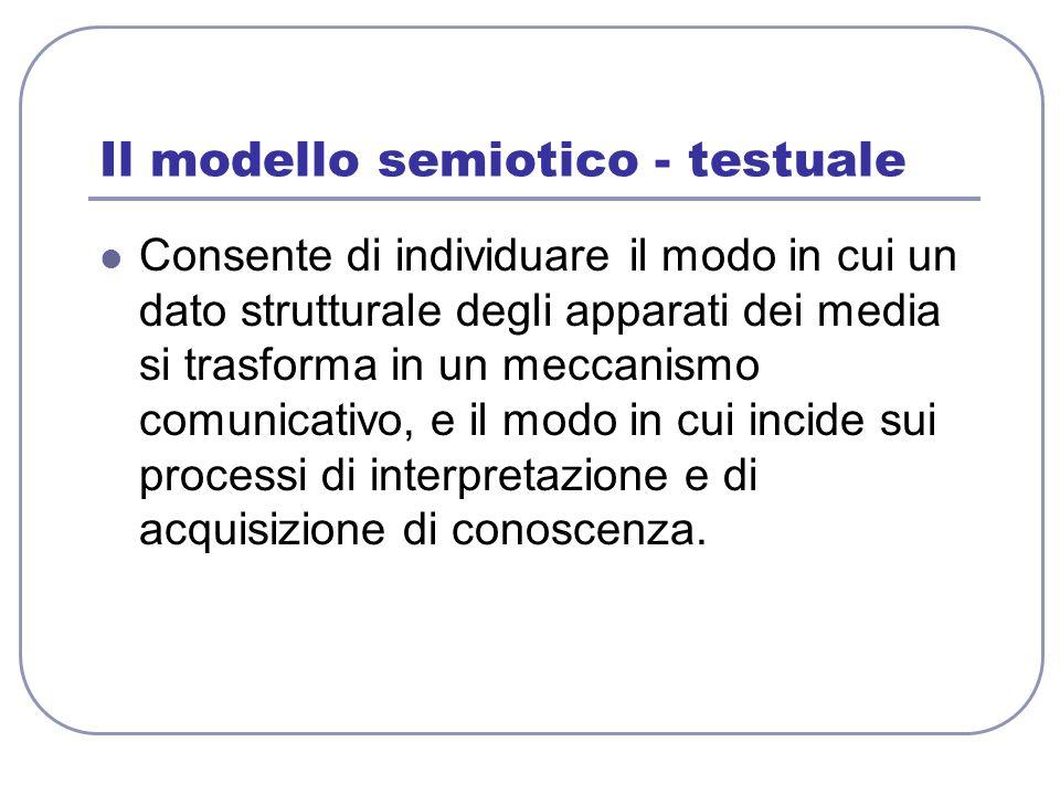 Il modello semiotico - testuale