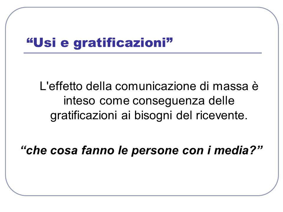 Usi e gratificazioni