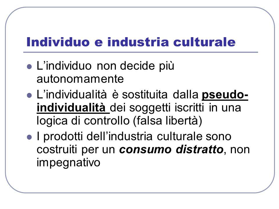 Individuo e industria culturale