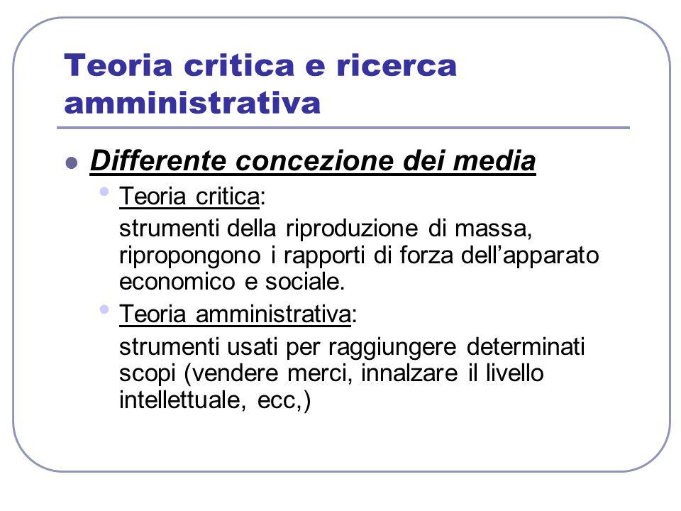 Teoria critica e ricerca amministrativa