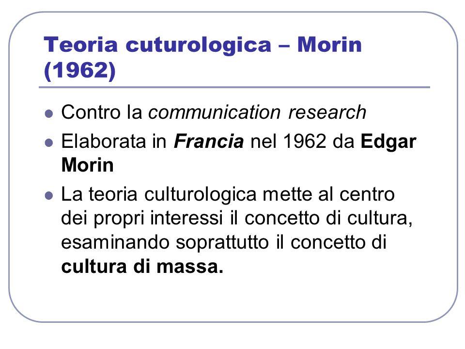 Teoria cuturologica – Morin (1962)