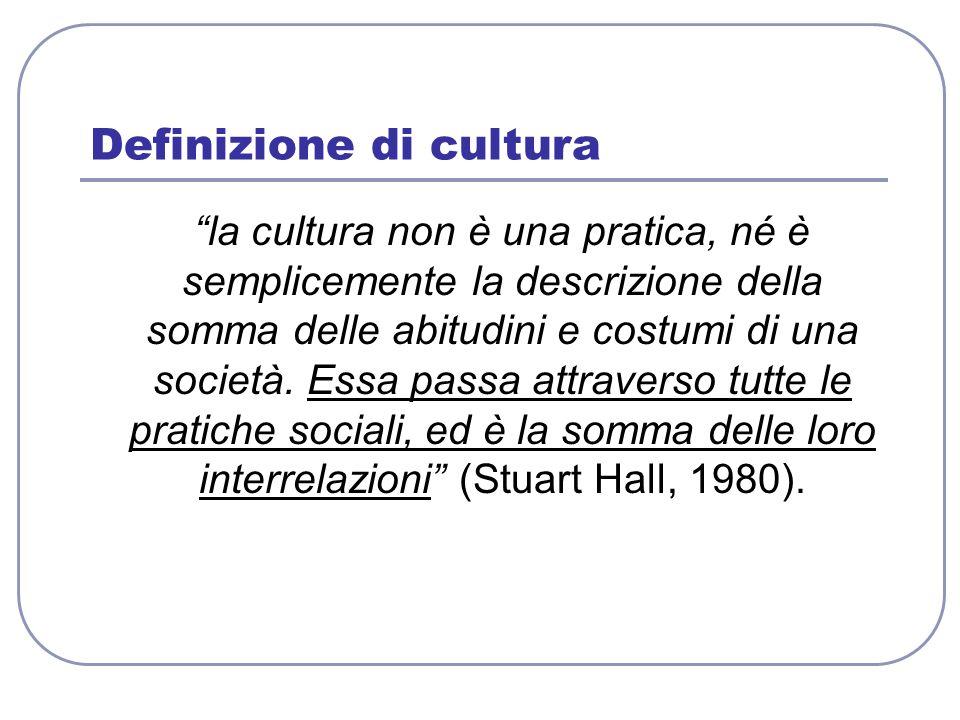 Definizione di cultura