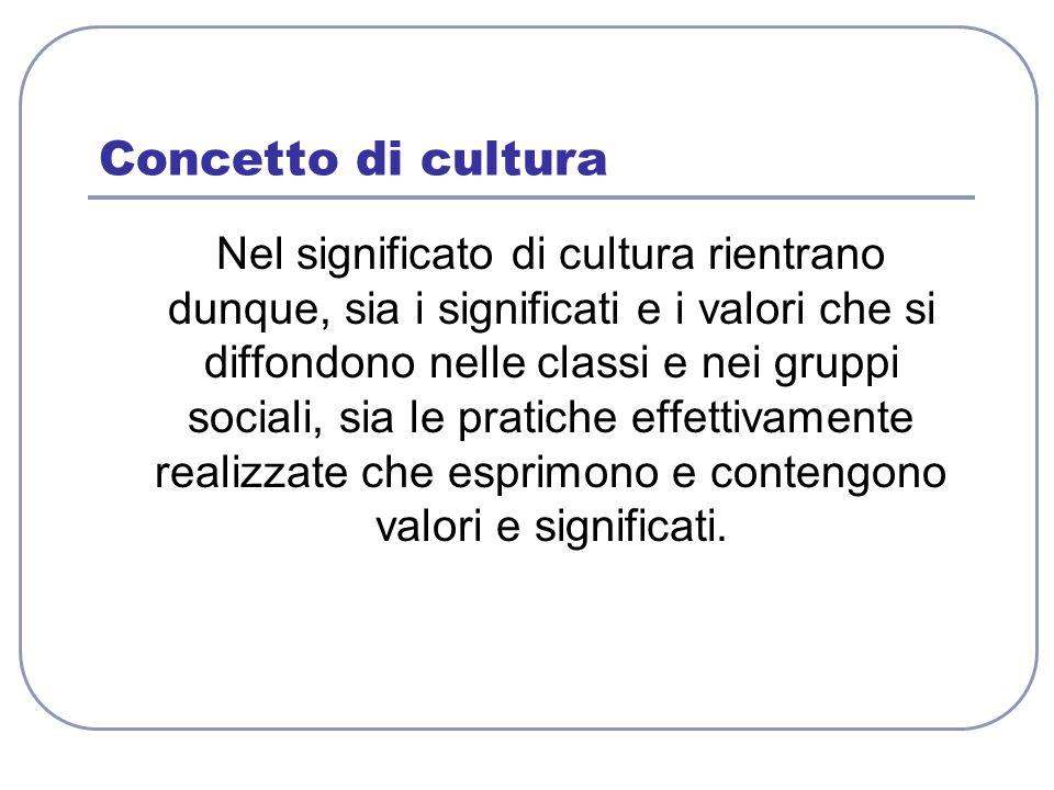 Concetto di cultura