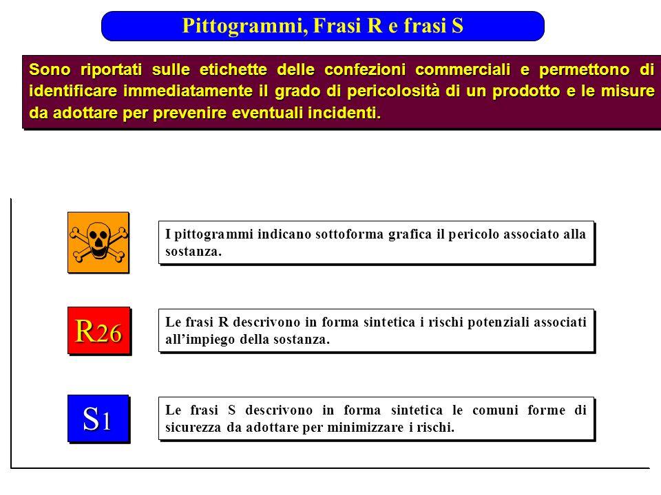 Pittogrammi, Frasi R e frasi S