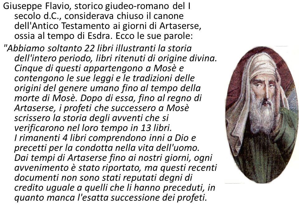 Giuseppe Flavio, storico giudeo-romano del I secolo d. C