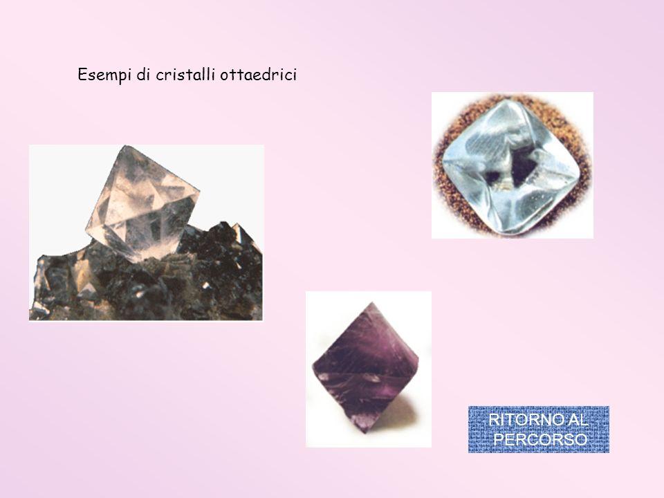 Esempi di cristalli ottaedrici