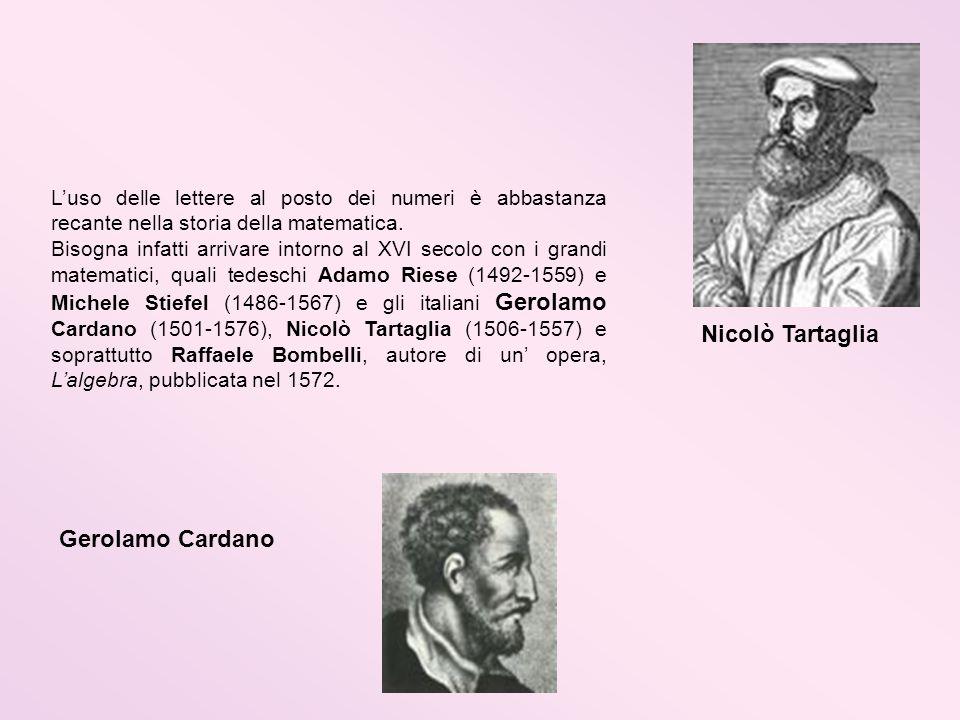 Nicolò Tartaglia Gerolamo Cardano