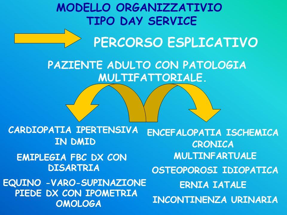 MODELLO ORGANIZZATIVIO TIPO DAY SERVICE
