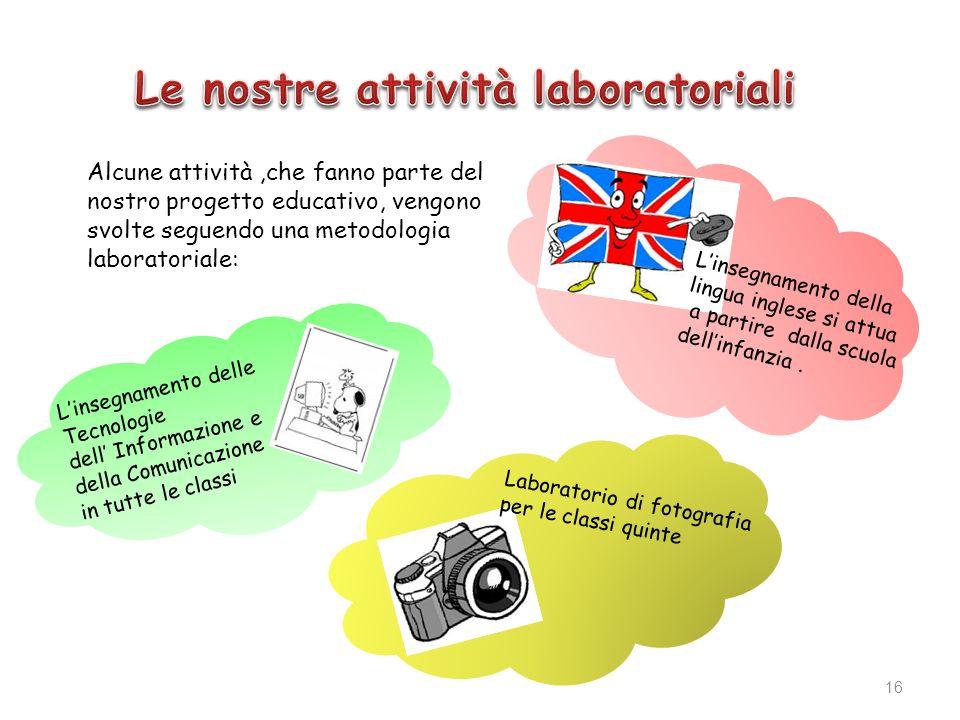 Le nostre attività laboratoriali