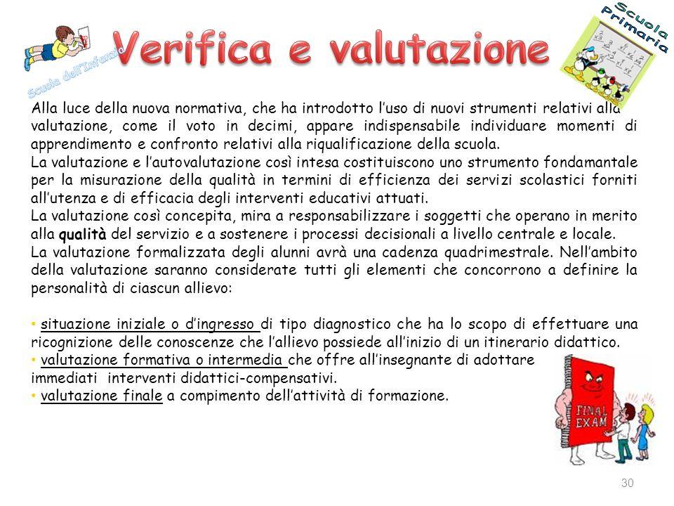 Verifica e valutazione
