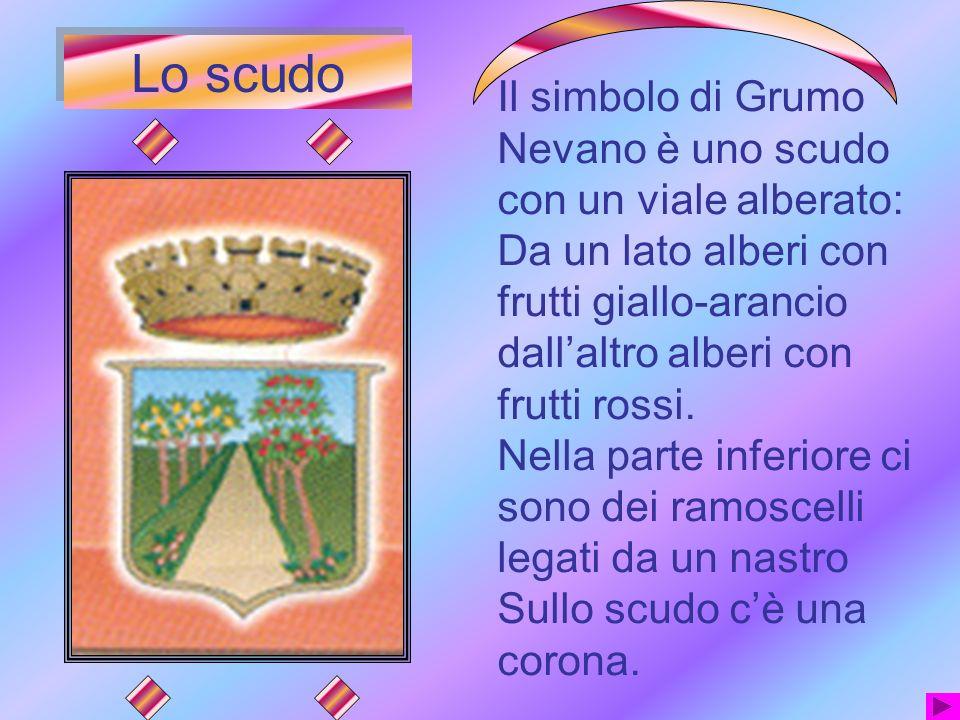 Lo scudo Il simbolo di Grumo Nevano è uno scudo con un viale alberato: