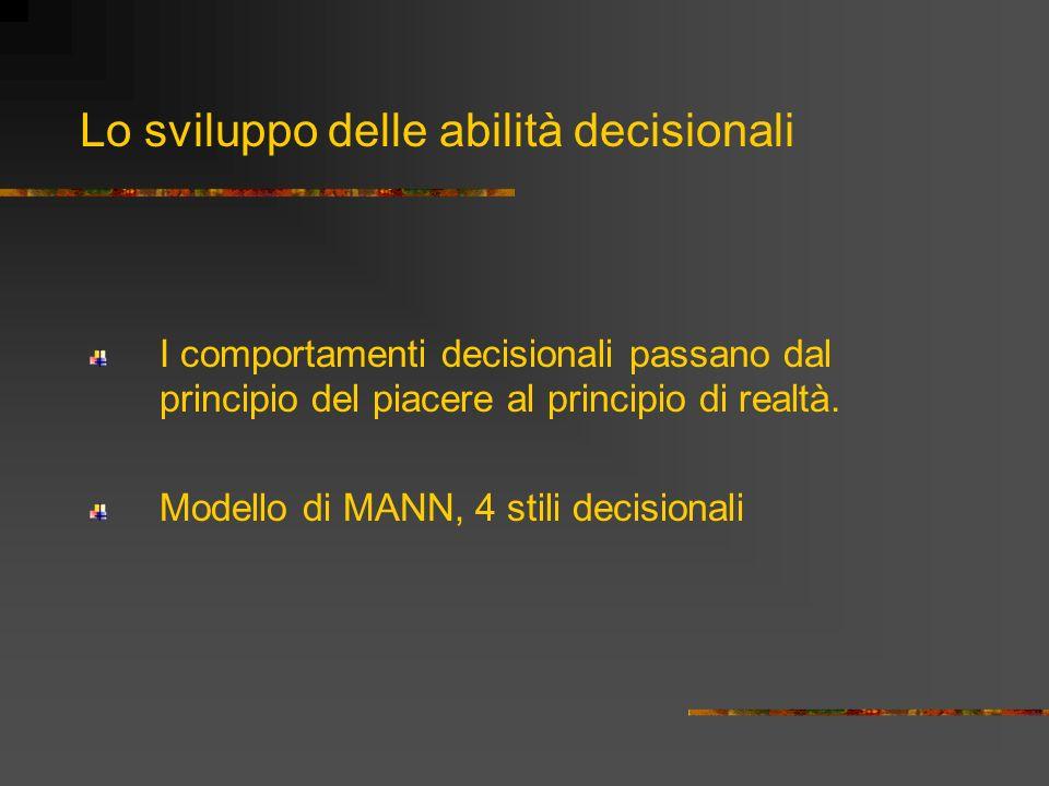 Lo sviluppo delle abilità decisionali