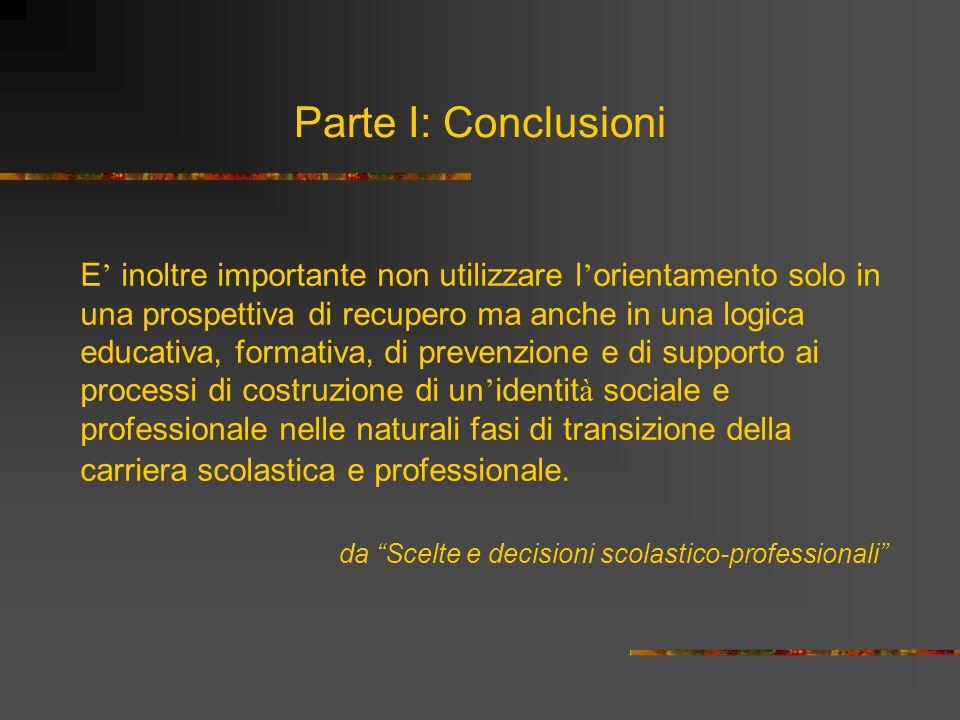 Parte I: Conclusioni