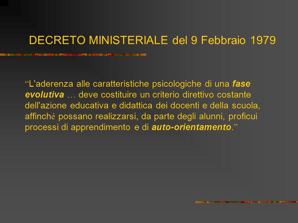 DECRETO MINISTERIALE del 9 Febbraio 1979