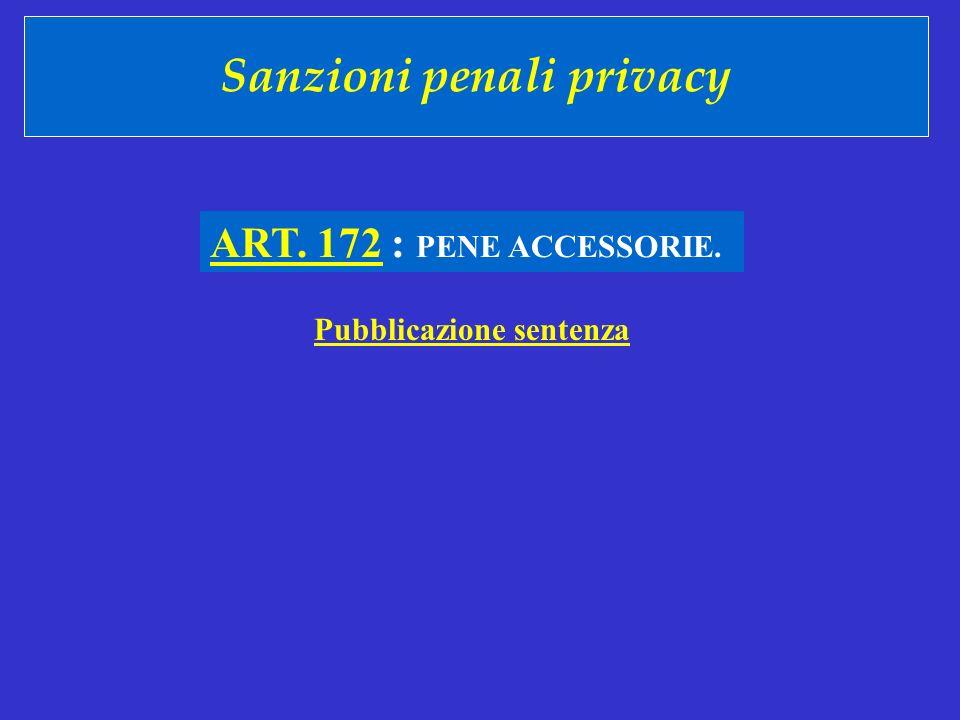 Sanzioni penali privacy