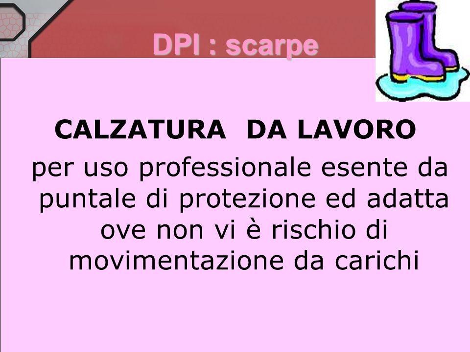 DPI : scarpe CALZATURA DA LAVORO