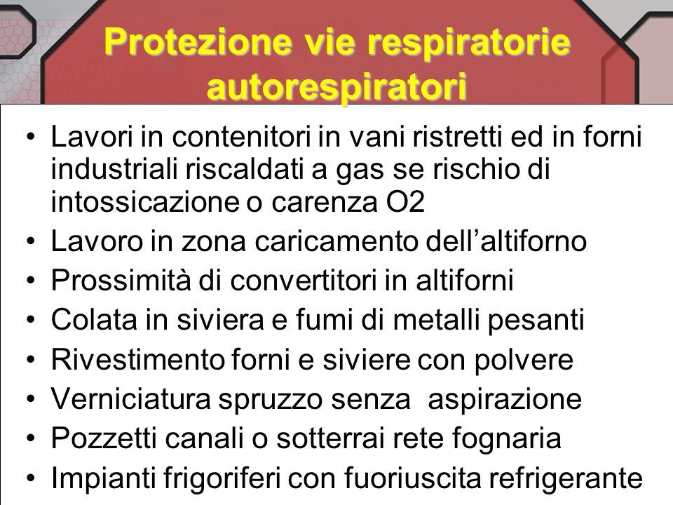 Protezione vie respiratorie autorespiratori