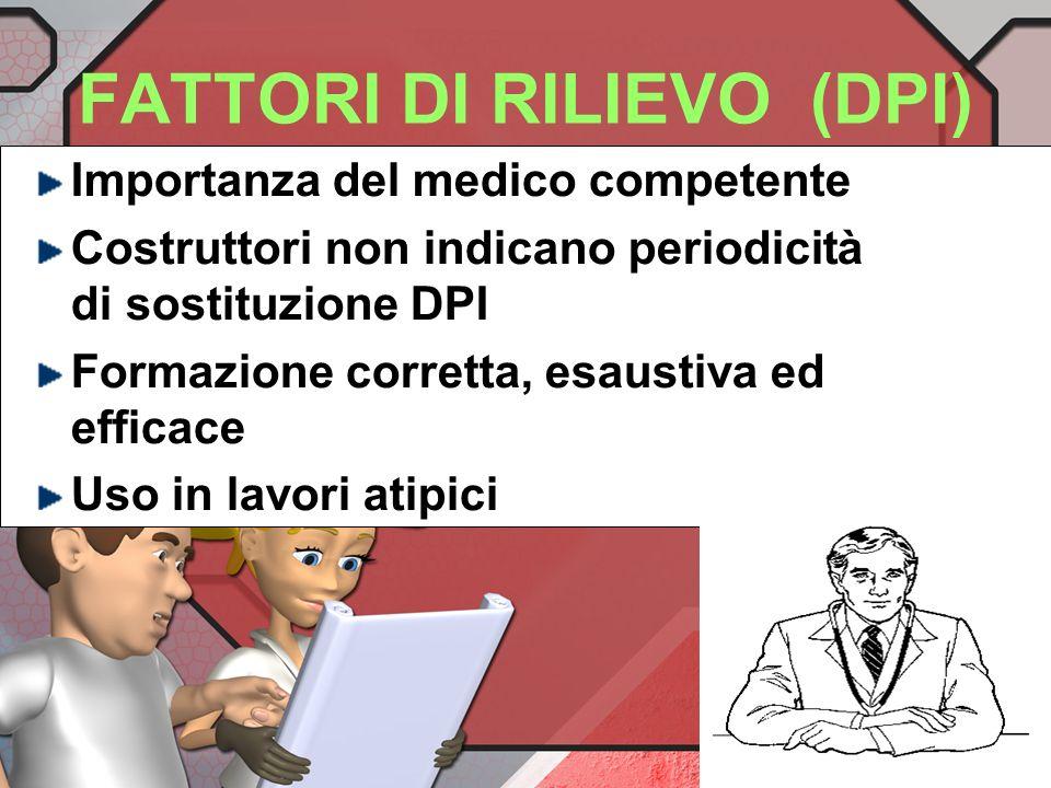 FATTORI DI RILIEVO (DPI)