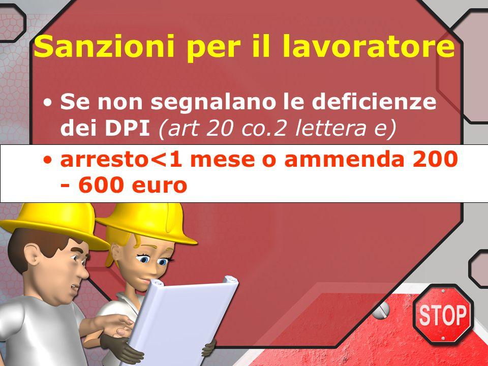 Sanzioni per il lavoratore