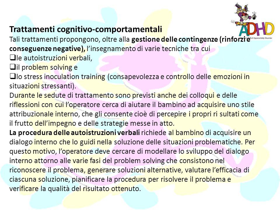 Trattamenti cognitivo-comportamentali