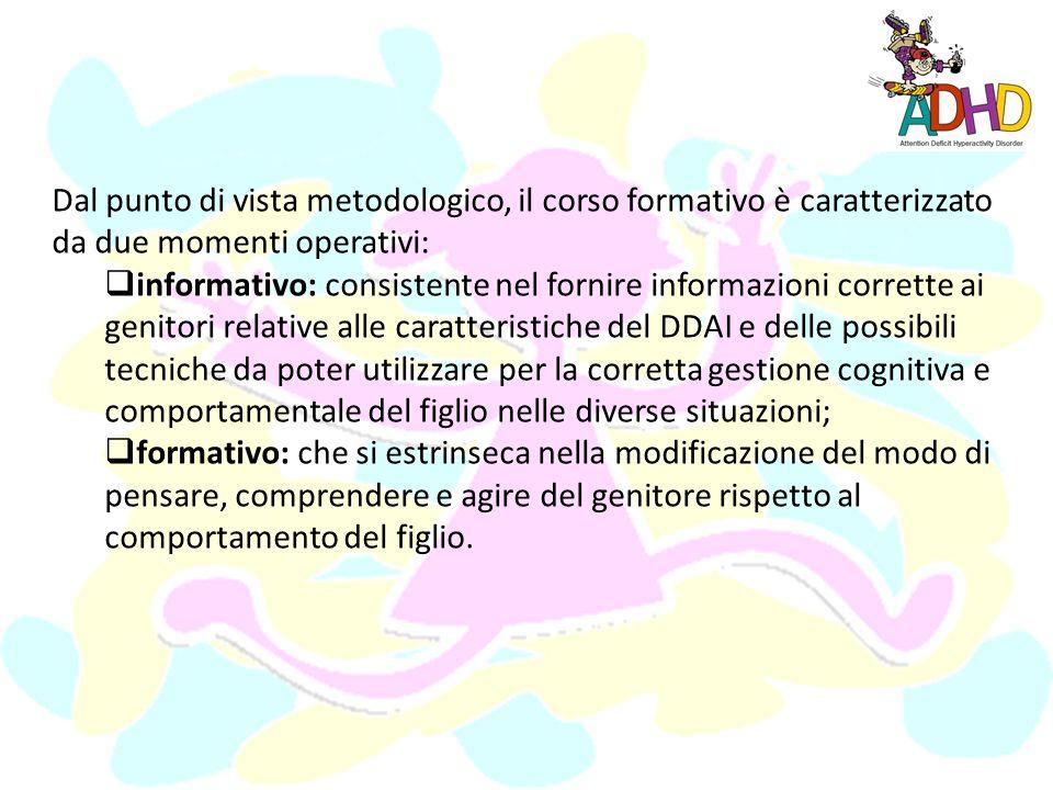 Dal punto di vista metodologico, il corso formativo è caratterizzato da due momenti operativi: