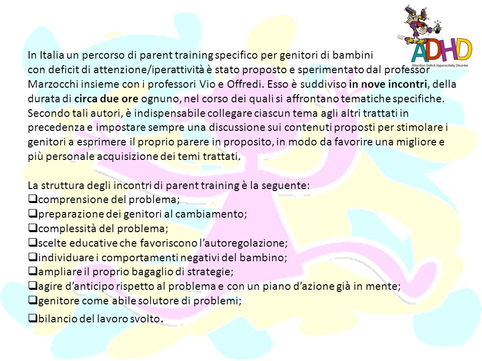 In Italia un percorso di parent training specifico per genitori di bambini