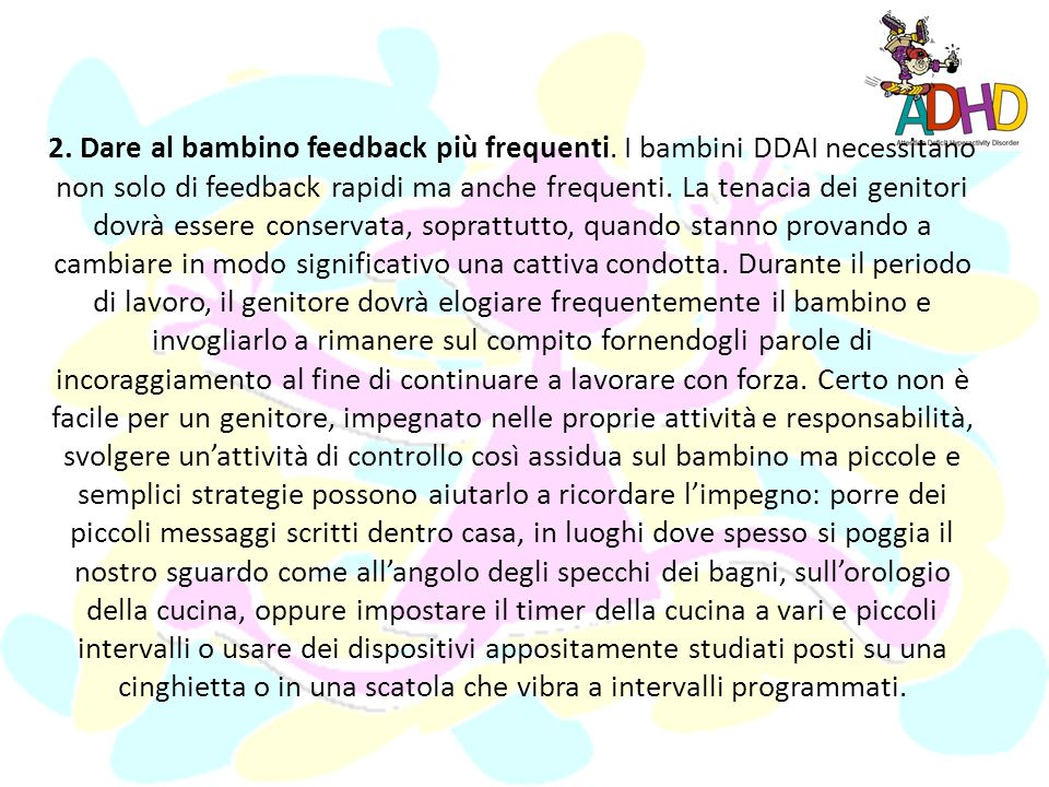 2. Dare al bambino feedback più frequenti
