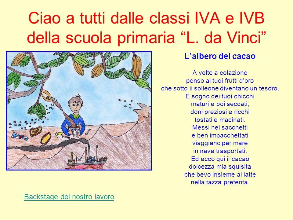 Ciao a tutti dalle classi IVA e IVB della scuola primaria L. da Vinci