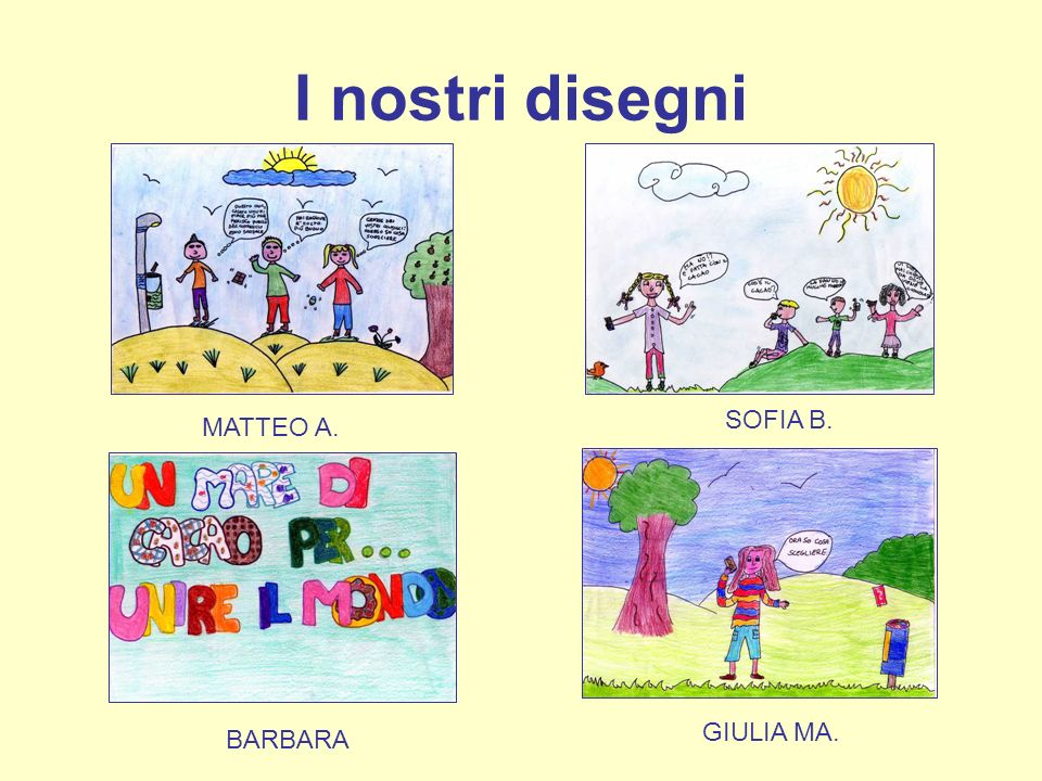 I nostri disegni MATTEO A. SOFIA B. GIULIA MA. BARBARA
