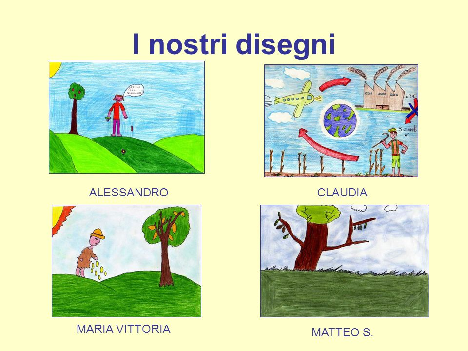 I nostri disegni ALESSANDRO CLAUDIA MARIA VITTORIA MATTEO S.