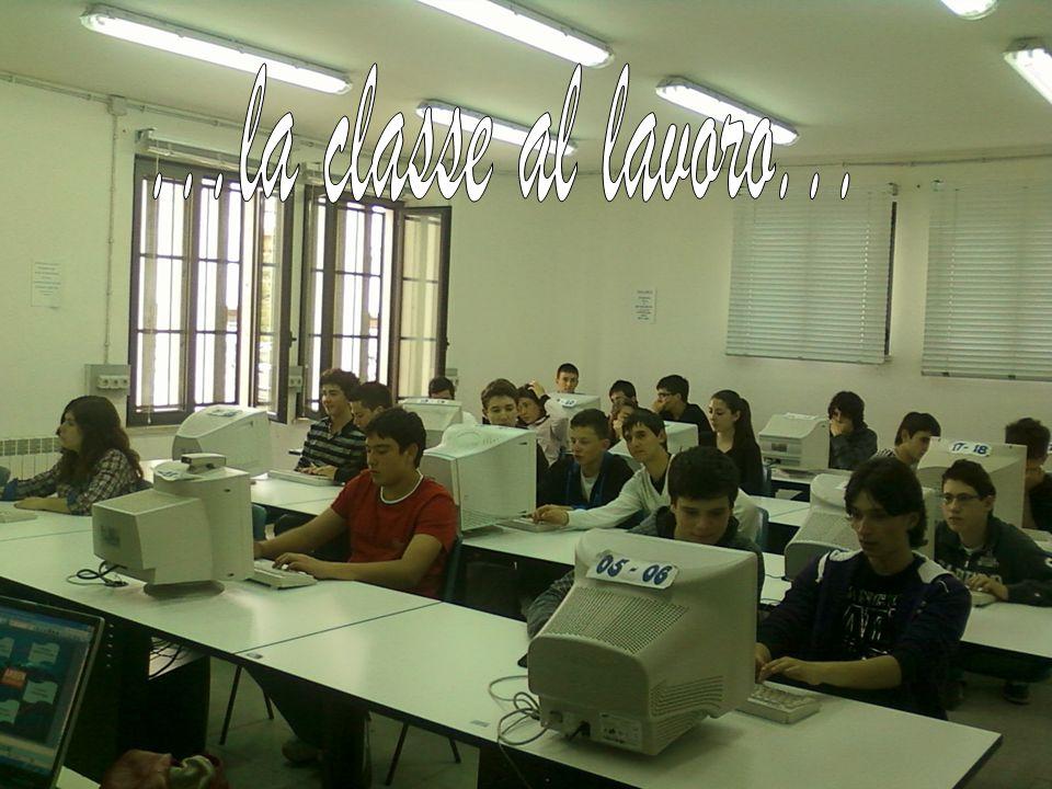 ...la classe al lavoro...
